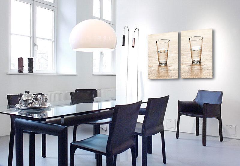 HALBLEER und HALBVOLL - Kunst im Unternehmen für Mobilia Wohnbedarf in Nürnberg