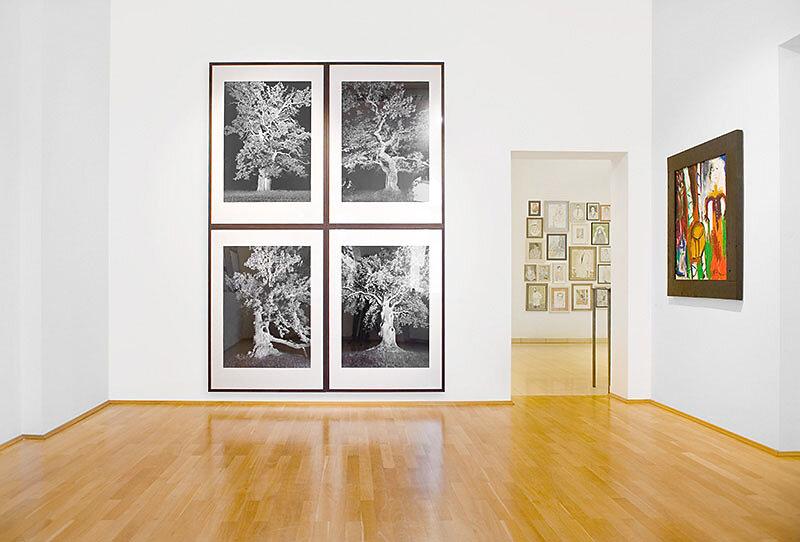 Foto aus der Ausstellung der Nürnberger Künstlerin Sabine Freudenberger, Kunsthalle Villa Kobe, Halle-Saale