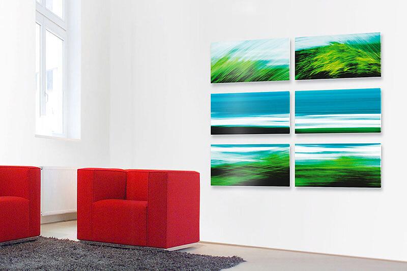 """Fotokunst aus der Werkreihe """"ATLNATIK III"""" - Kunst im Unternehmen für Mobilia Wohnbedarf in Nürnberg"""