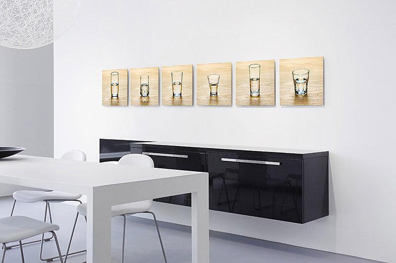 Kunst für Unternehmen - Gläser halbvoll